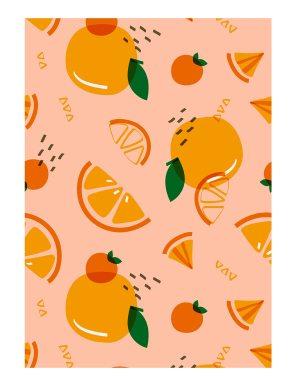 Tropical-orange-welcome-board