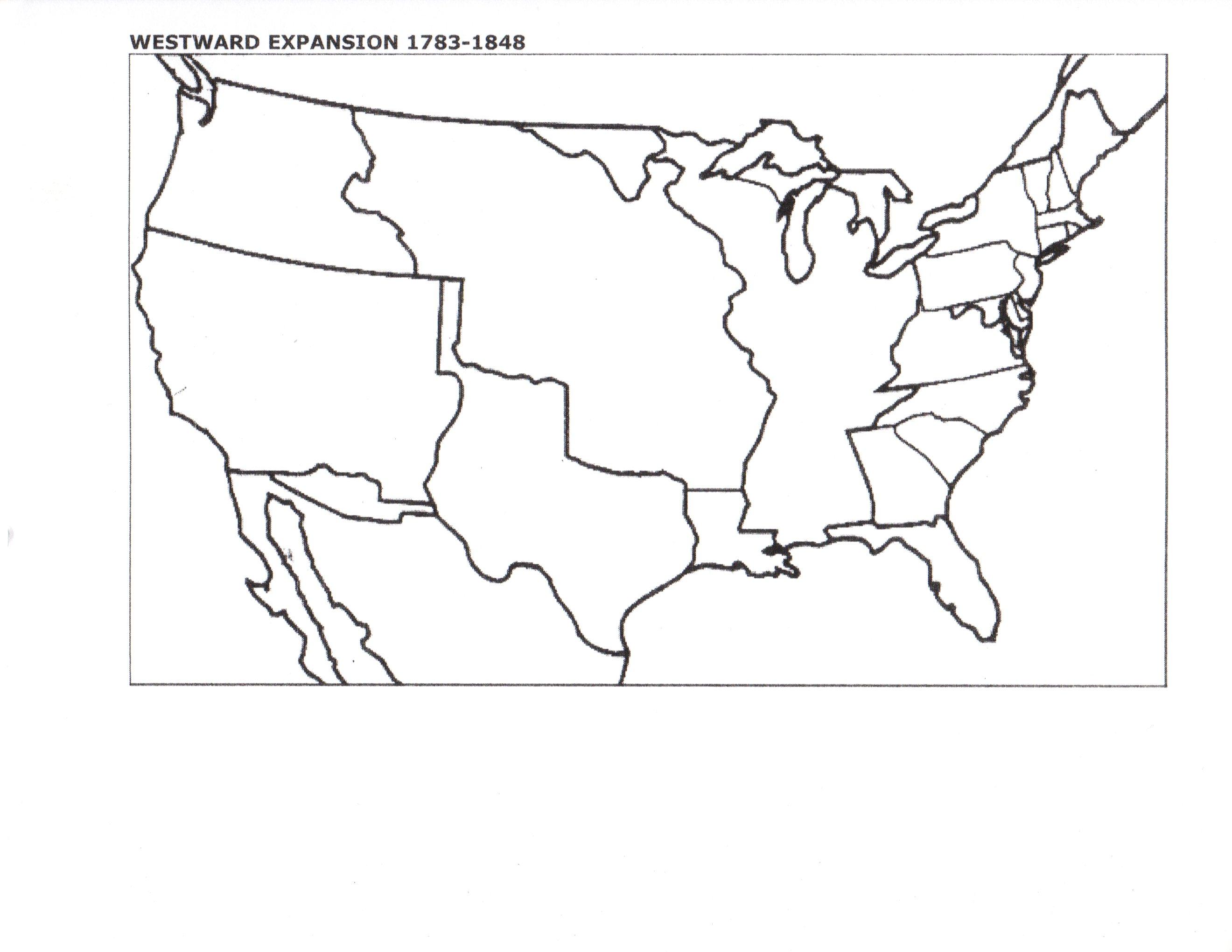 Blank Map Of Us Manifest Destiny
