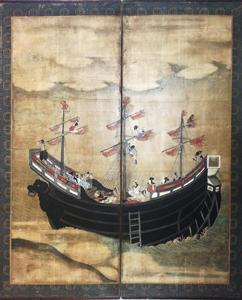 Namban-screen-RIngling-Museum