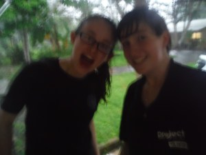 Lucy and I after running back to my house in the pouring rain