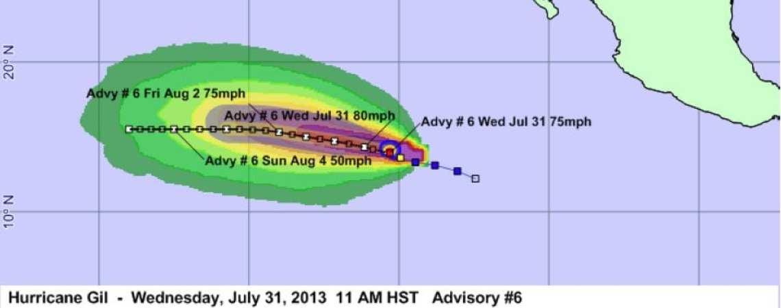 Hurricane Gil Advisory 6