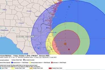 Hurricane Matthew Advisory Forecast 38A