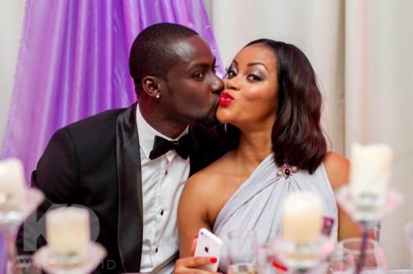 Chris Attoh and his wife Damilola Adegbite