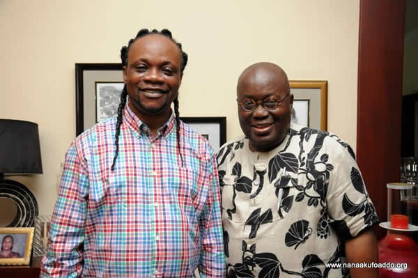 Daddy Lumba pictured on Thursday October 1 with Nana Akufo-Addo