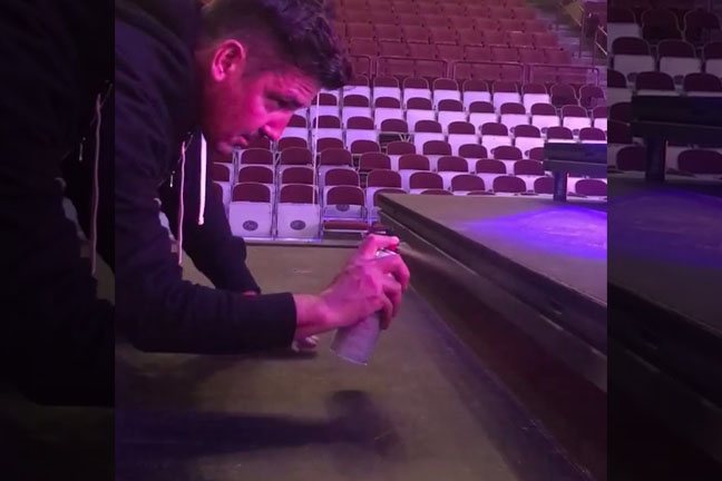 Instagram post by Jonathan Knight-Rodriguez last minute tour prep
