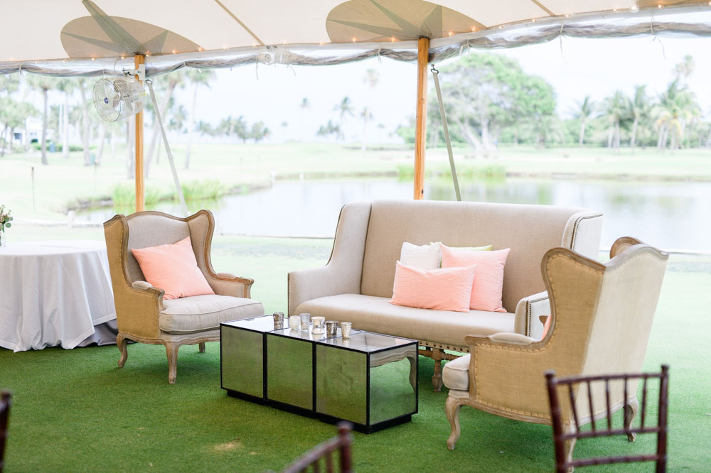 Intimate Seating in Open Air Tent Reception in Boca Raton