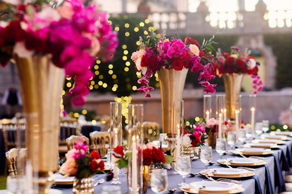 Wedding Florals in Indian Fusion Wedding