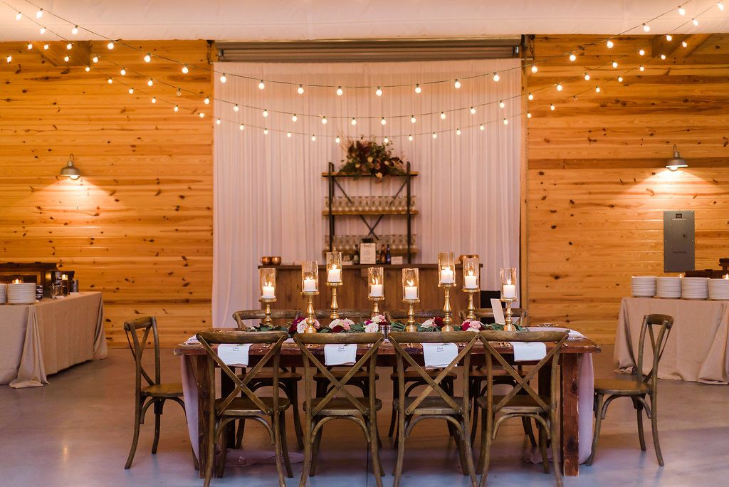 Head table feature wall