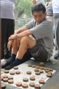 I Tiantan park spilles og gambles der.