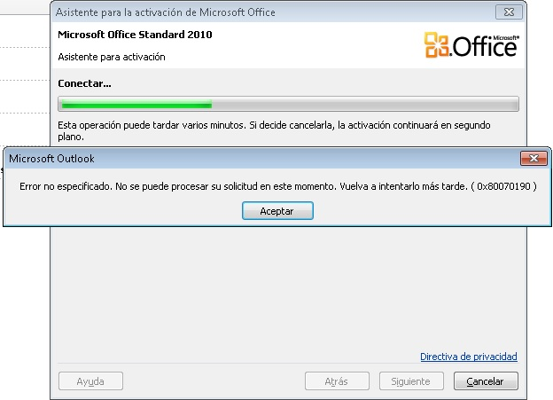 activar office 2010 regedit