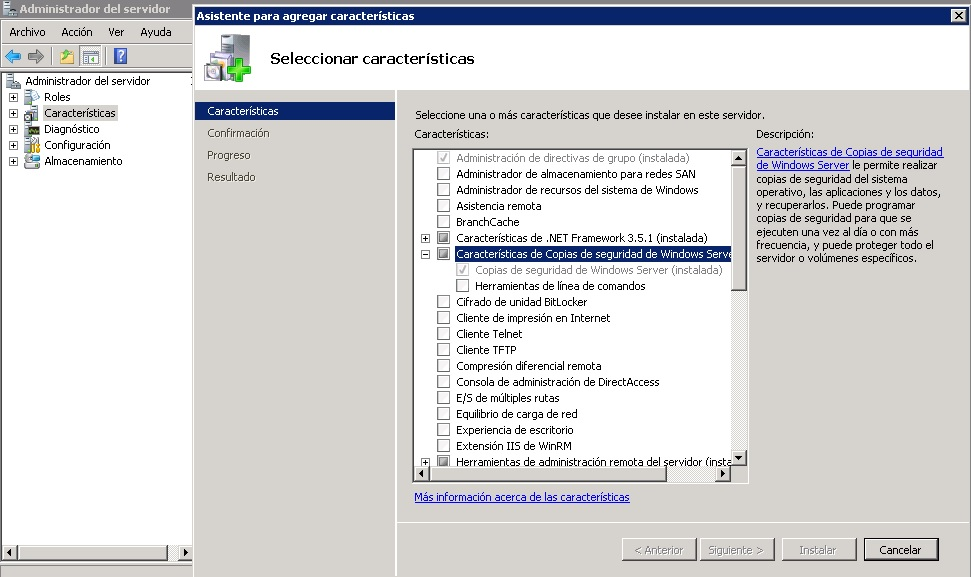 Programar Backup de active Directory de Windows server 2008 | NKSistemas