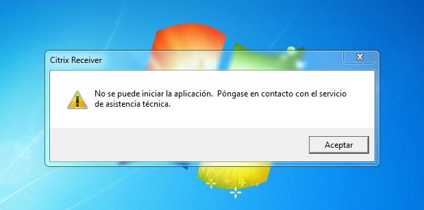 citrix-no se puede iniciar la app