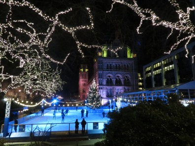 Ice rink at the Natural History Mueseum
