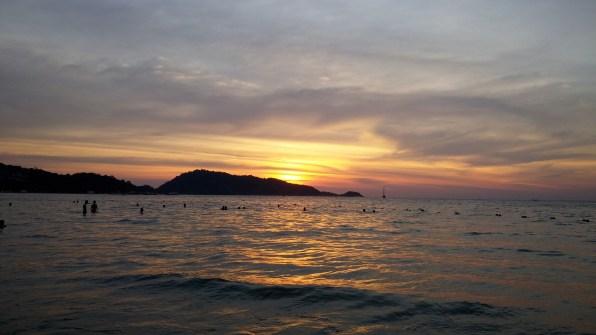 Sunset at Patong Beach