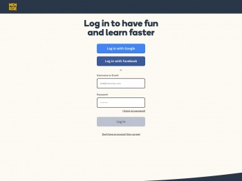 Log in to have fun and learn faster - Memrise