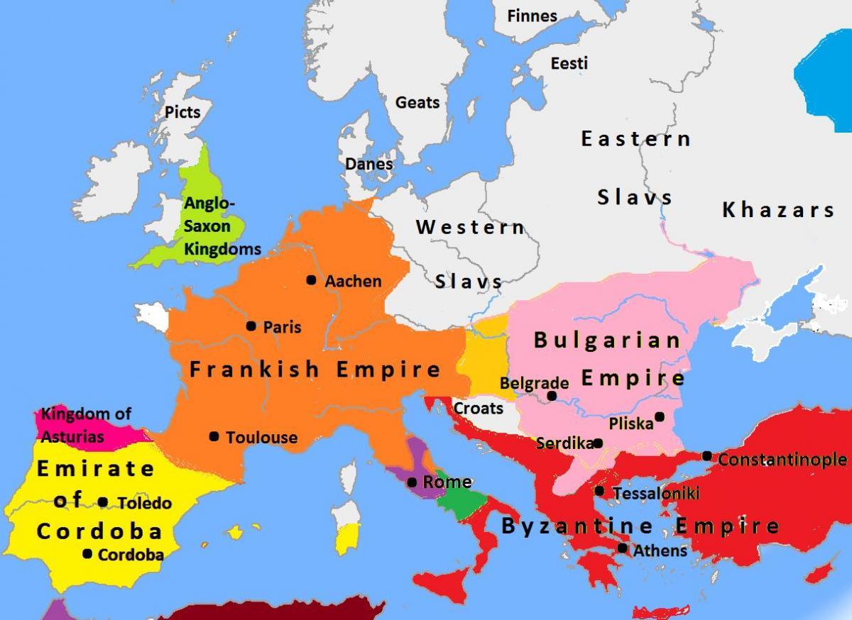 Bulgarije Kaart Europa