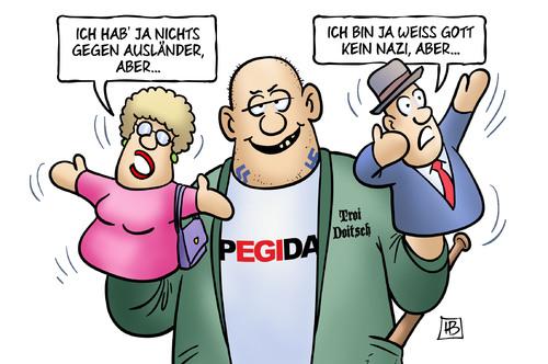 German cartoon on Pegida