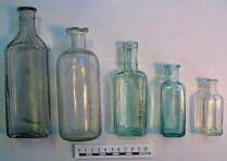Assorted medicine bottles from the cellars