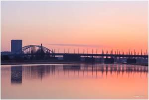 Arnhem, John Frostbrug zonsopkomst