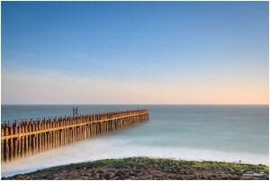 Zuiderhoofd, Westkapelle, Noordzee, seascape, magic hour