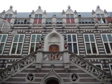 A detail from the facade of the Alkmaar town hall (1509-1520)