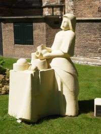 The Milkmaid from Delft (Homage to Vermeer)
