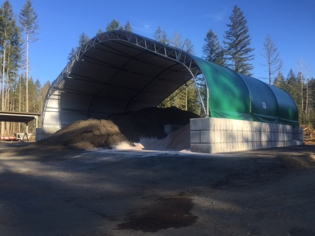The First Of Nine Salt Storage Buildings Complete In King