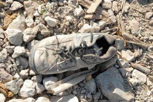 Een schoen langs de weg