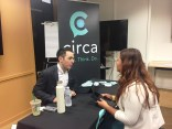 Circa's Fernando Hurtado was one of the many recruiters speaking with young and seasoned journalists, June 17, at the Journalism Job Fair at SAG-AGFTRA in Los Angeles. Photo by Ande Richards