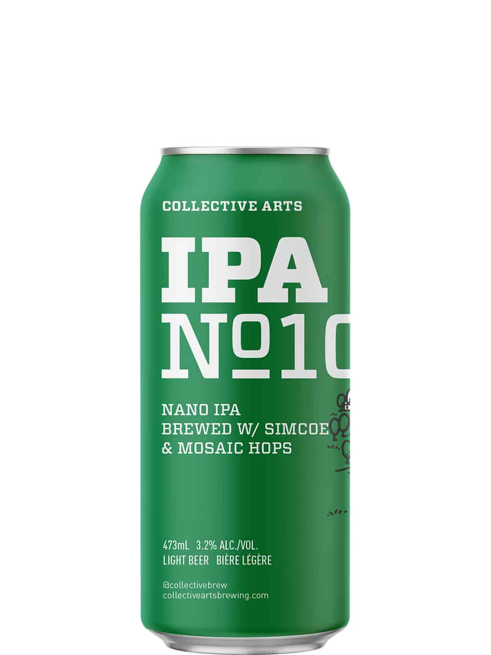 Collective Arts IPA No.10 Double-Hopped NANO IPA