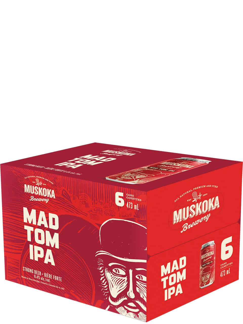 Muskoka Mad Tom IPA 6 Pack Cans