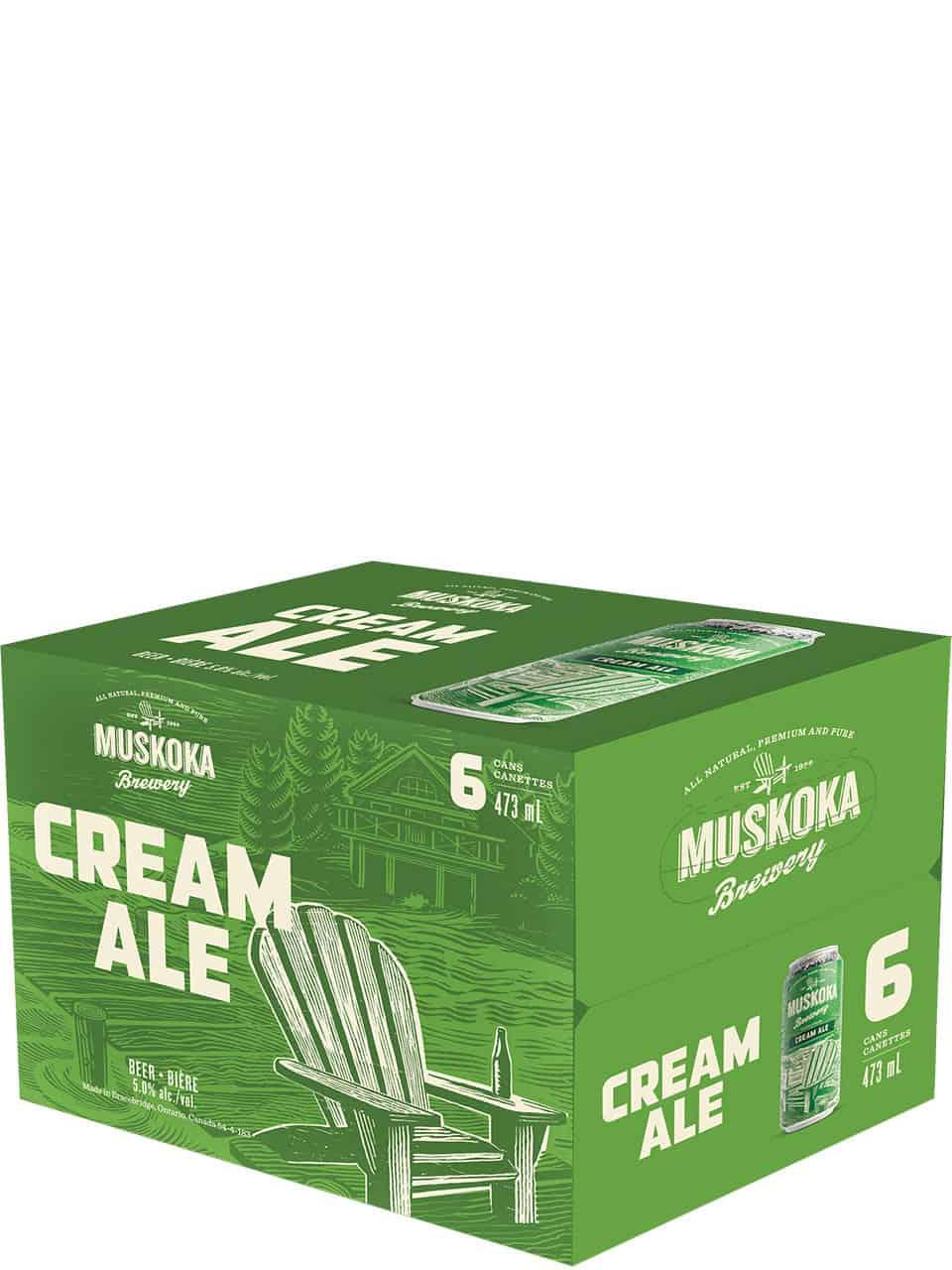 Muskoka Cream Ale 6 Pack Cans