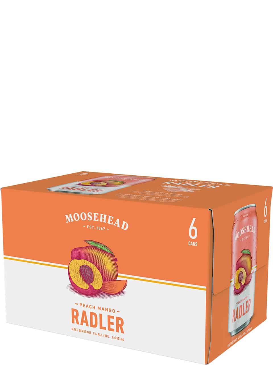 Moosehead Radler Peach Mango 6 Pack Cans