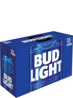 Bud Light 15 Pack Cans