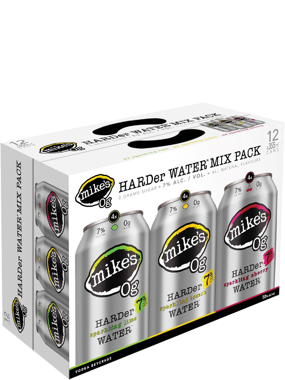 Mike's 0g Harder Sparkling Water Mix Pk 12pk Cans
