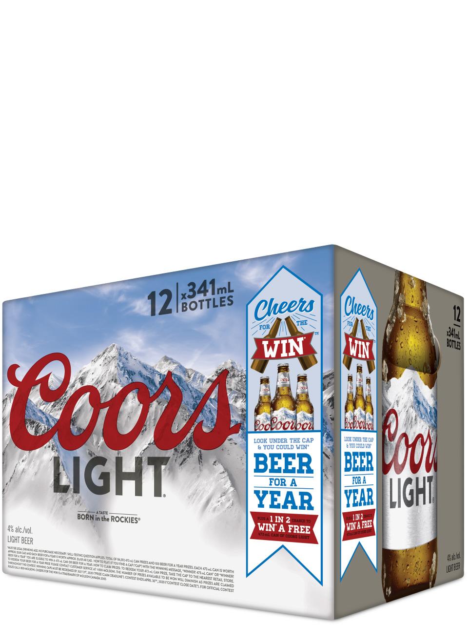 Coors Light Bottles 12pk