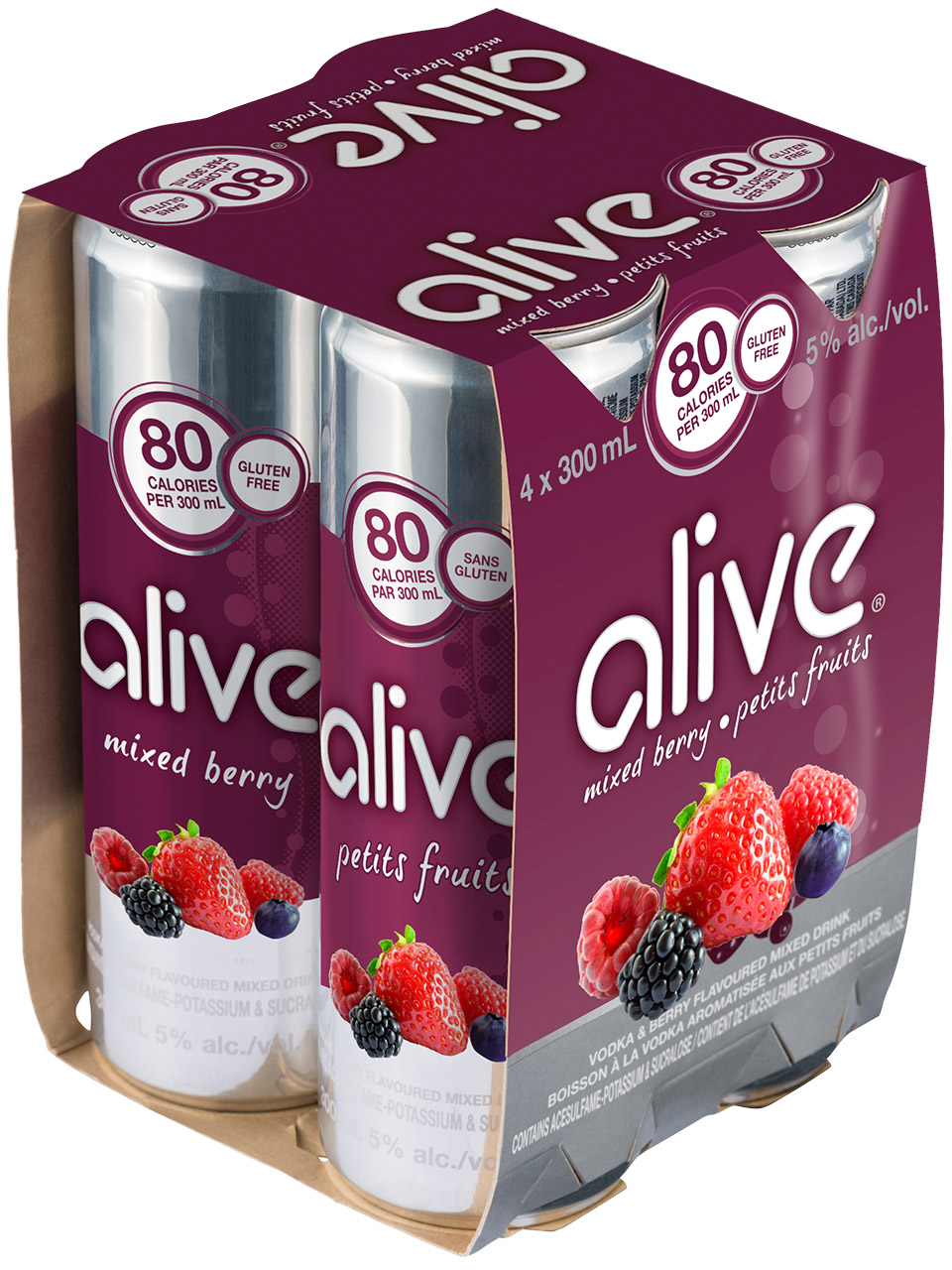 Alive Mixed Berry 4 Pk