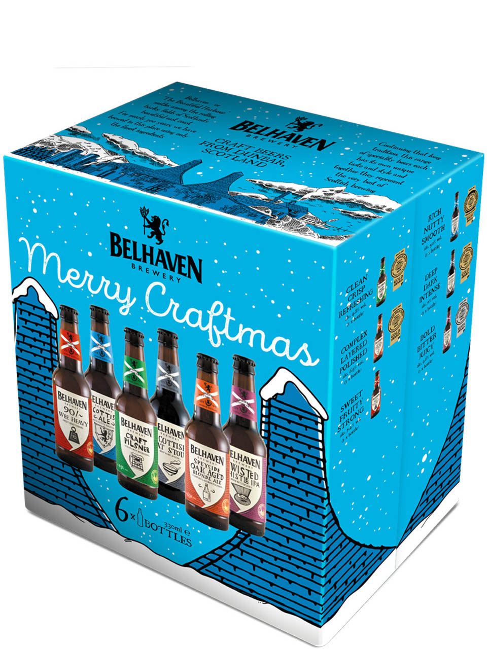 Belhaven Brewery Merry Craftmas 6 Pack Bottles