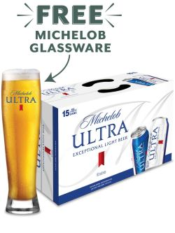 Michelob Ultra 15pk Cans