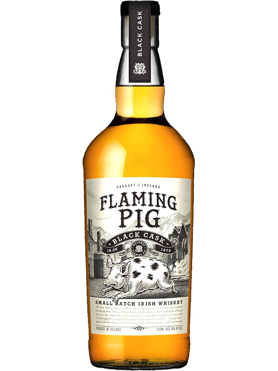 Flaming Pig Black Cask Small Batch Irish Whiskey
