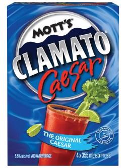 Mott's Clamato Caesar Original 4 Pack