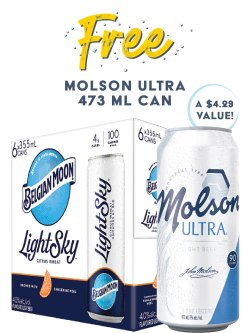 Belgian Moon Light Sky 6 Pack Cans