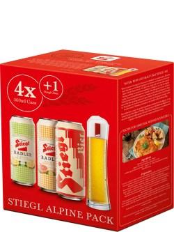 Stiegl Alpine Mix 4 Pack with Glass