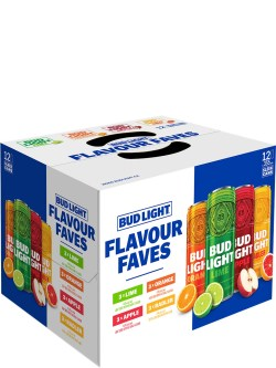 Bud Light Flavour Faves Mix 12pk Sleek Cans