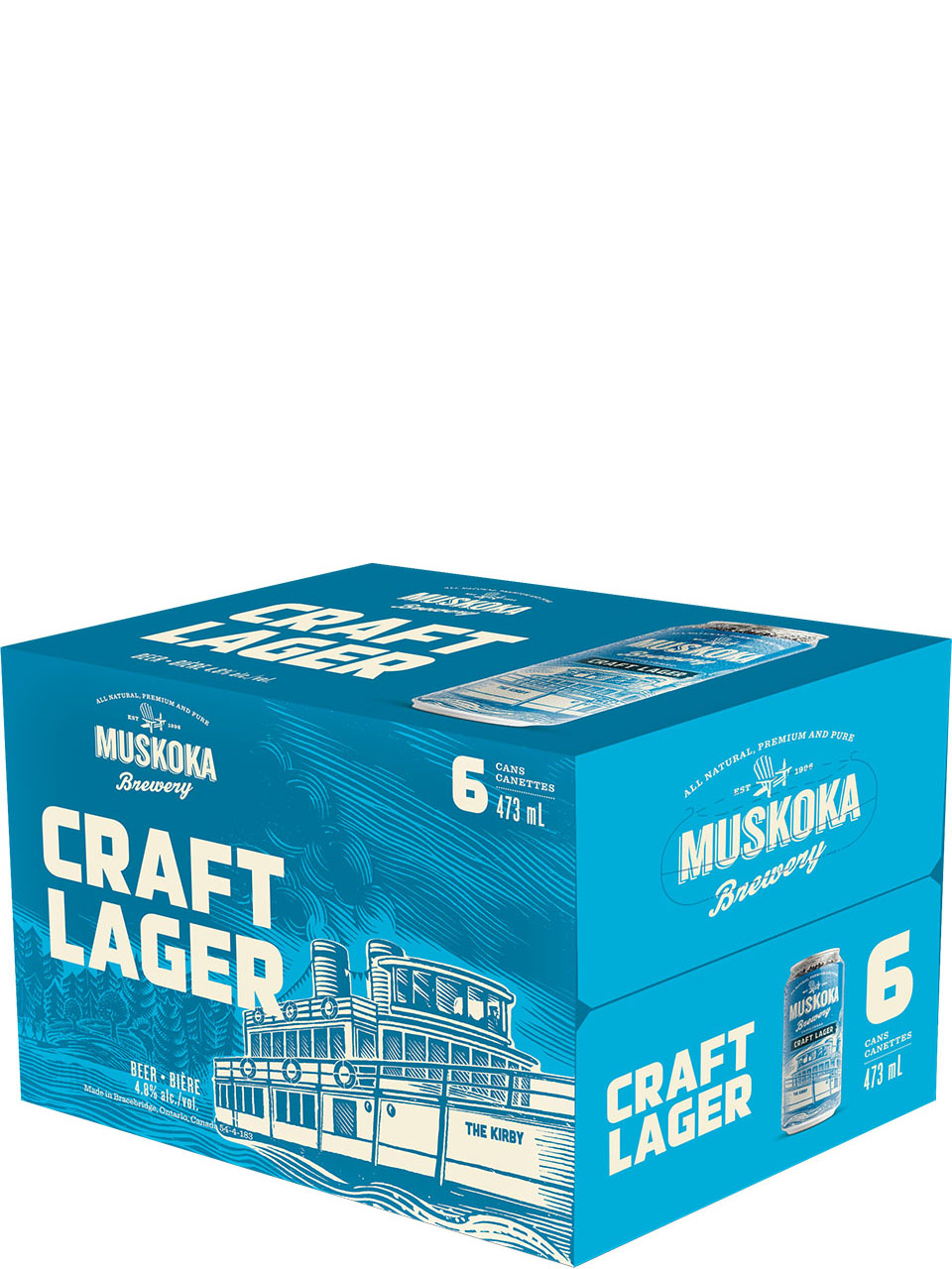 Muskoka Craft Lager 6 Pack Cans