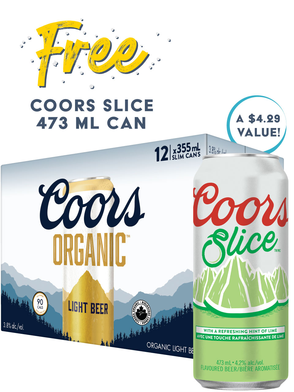 Coors Organic 12 Pack Cans
