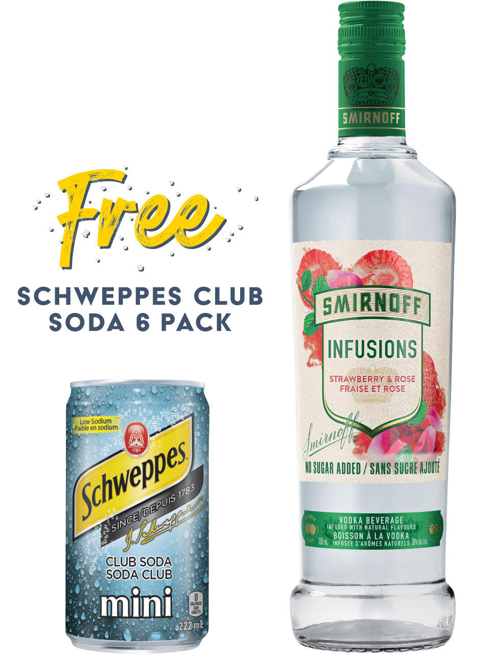 Smirnoff Infusions Strawberry & Rose Vodka