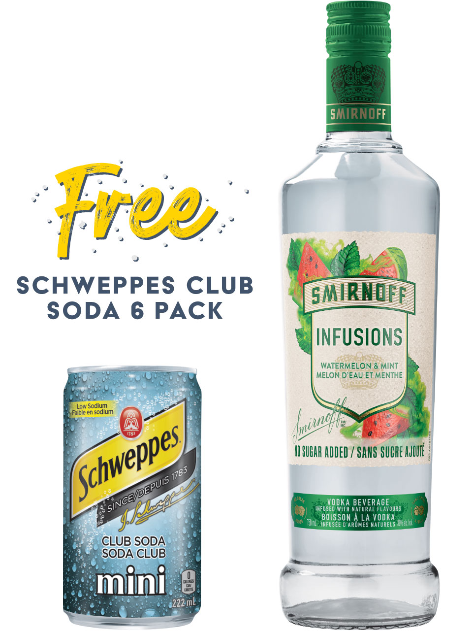 Smirnoff Infusions Watermelon & Mint Vodka