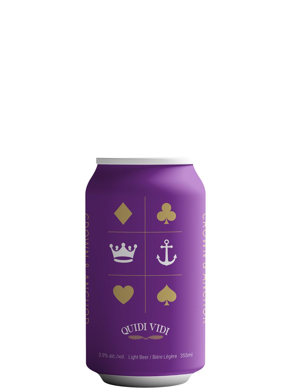 Quidi Vidi Crown & Anchor Light Lager 8pk Cans