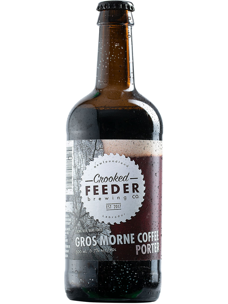 Crooked Feeder Gros Morne Coffee Porter 500ml Btl